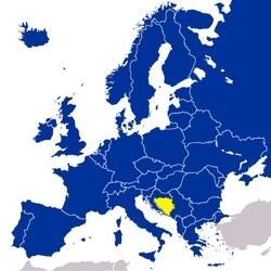 Босния и Герцеговина на карте