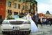 На фоне Строместской Ратуши с Орлой.Ну какая же свадьба без белого лимузина))