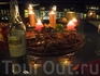 Ужин на террасе - креветки  и свежевыловленный сибас, мраморная говядина с соседних  Азорских островов, все запеченоена гриле -пальчики оближешь