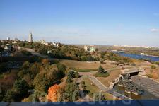 Вид со смотровой площадки монумента Родине-Матери.