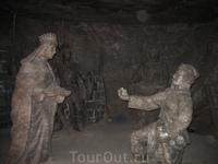 скульптуры из соли в соляных шахтах Велички