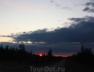 Закат над тайгой