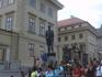 А на площади мы увидели памятник Т.Масарику- первому президенту Чехосло-вакии