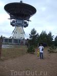 Советское наследие - радиотелескоп в Ирбене (рядом с Вентспилсом) на бывшей военной базе.