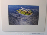 Остров Спас-Каменный в Кубенском озере с высоты. Узоров О.М.