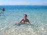 белый песочек и голубая водичка на острове Грифтун