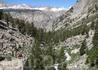 Вид на массив Уитни с последнего перевала, с тропы Джона Мюра. Полдня хорошего хода.