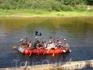 Веселый роджер на реке Лух. Пиратский рафт.