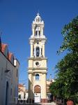 В поисках горы Филеримос, заезжаем в маленькую церковь вот с такой симпатичной колокольней.