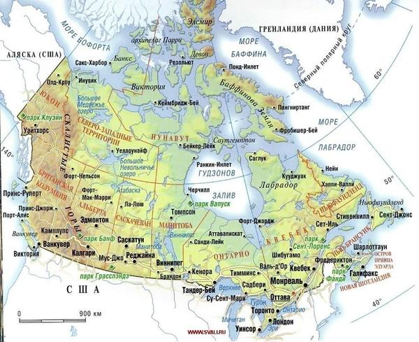 карта канады с городами на руканады цитадель уменьшит скорость