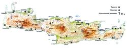 Карта достопримечательностей Крита