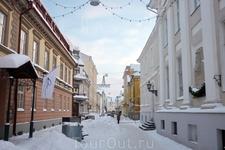 Центральная пешеходная улица в Тарту