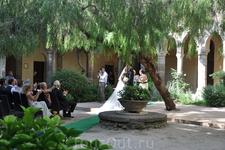 Собор Святого Франческо. Во внутреннем дворике. Свадьба.