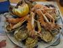 """По словам хозяина рыбного ресторанчика в Сен-Мало, для морепродуктов в марте еще не сезон. Так что пришлось довольствоваться весьма """"скромной"""" тарелочкой ..."""