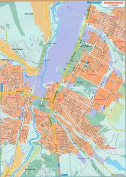 Карта Краматорска с улицами