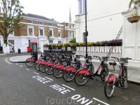 Немного Испании в Лондоне. В Лондоне, как и в любом хорошем городе, можно арендовать велосипед. С марта 2015 года испанский банк Santander - спонсирует ...