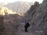 Гора Моисея (Синай); спускаться весело!