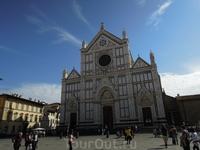 Флоренция  2012.10.   Базилика Санта Кроче ( Святого Креста) вид с площади