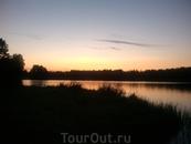 Валдайское озеро вечером
