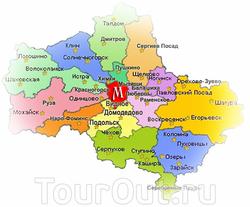 Карта Карта Московской области с городами