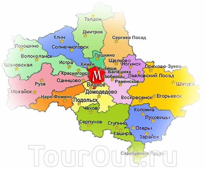 Карта Карта Московской области