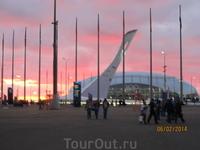 закат в Олимпийском парке