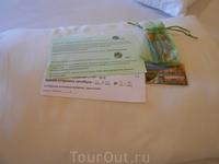 На прощание, в последний день, от отеля, нам подарили 2 магнитика. Мелочь, но приятно!