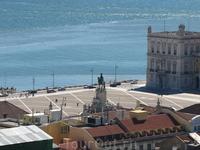 Вид сверху, с замка Сан-Жоржи