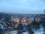 Вышеград. Виды с холма на вечерний город. Рано темнеет зимой