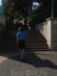 с площади Свободы к башне ведёт лестница.  Рядом находится огромный стеклянный крест в память о жертвах Освободительной войны 18-20гг. прошлого века.