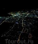 Вид из окна самолета на Москву