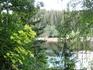 Вот собственно такой вид на реку открывается с поляны рядом  с местом, где проводится фестиваль.