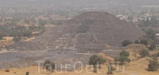 Теотеокан. город покинутый гигантами до возникновения цивилизации ацтеков. пирамида луны