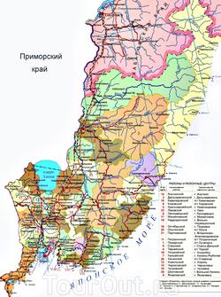 Карта Приморского края