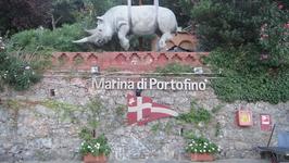 Непонятный для меня памятник носорогу, но вроде как из интернета я поняла что он говорит о том что тут находится музей животных всевозможных