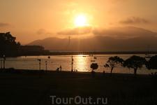 Вот так садится солнце в Сан-Франциско