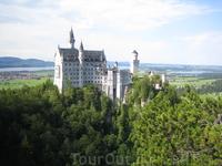 замок Neuschwanstein, вид с моста