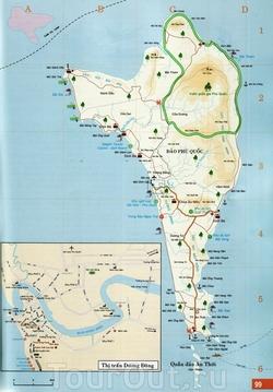 Карта Фукуоки с отелями