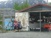 По пути попадаются саамские сувенирные лавки. Ничего не купили.