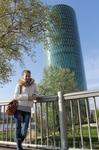 Административное здание Westhafen Tower, один из известнейших небоскребов во Франкфурте