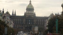 Прага-здание Национального музея на Вацлавской площади