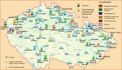 Карта Чехии с курортами