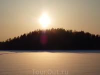 Закат на Мельничном озере.