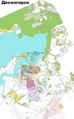 Карта Десногорска