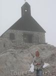 Церковь на Цугшпице на высоте 2600м, чуть ниже самой высокой точки Альп