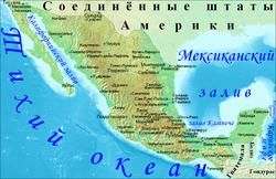Карта Мексики с городами