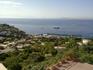 Вид сверху на о.Капри с площадки, куда поднялись на фуникулере.