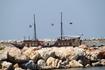 Прогулочный кораблик в порту Петимно