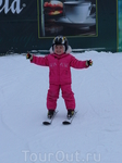 Ставим младшую дочь на лыжи
