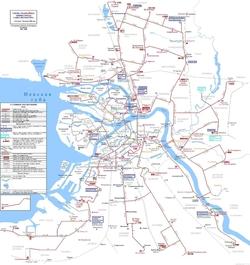 Карта дорог Санкт-Петербурга